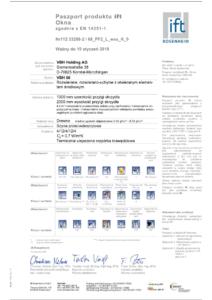 Certyfikat na okna (ift Rosenheim)