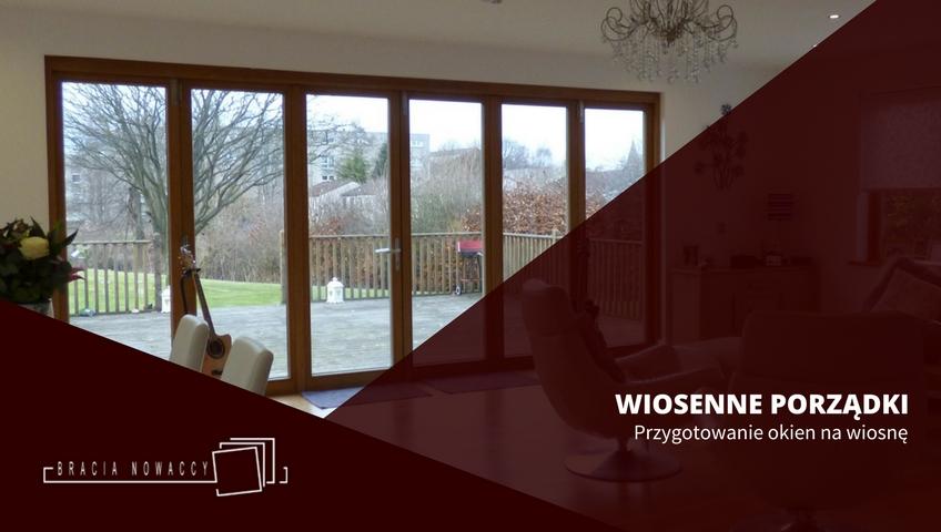 Czyszczenie okien drewnianych na wiosnę