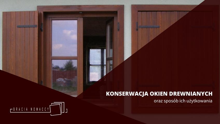 konserwacja okien z drewna