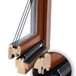 Okno drewnaine z trzema szybami
